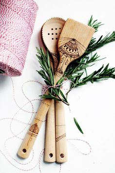 Weekend DIY Project: Wood-Burned Serving Spoons