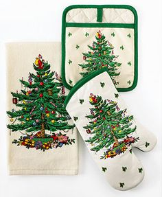 Spode Kitchen Linens, Christmas Tree Collection - Holiday Entertaining - for the home - Macy's Christmas China, Spode Christmas Tree, Christmas Tree Pattern, Christmas Dishes, Christmas Tablescapes, Christmas Kitchen, Little Christmas, Christmas Home, Vintage Christmas