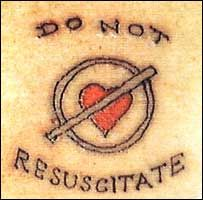 I love it!!! DNR...DNI...AND (Do not resuscitate...Do not intubate....Allow natural death)..Amen!