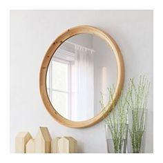 IKEA - STABEKK, Miroir, brun clair, , En bois massif, un matériau naturel et résistant à l'usure.Peut être installé dans toutes les pièces de la maison, dont la salle de bain car testé et approuvé pour cet usage.Miroir avec pellicule anti-éclats au dos.