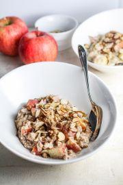 Apple Pie Oatmeal | Katie at the Kitchen Door
