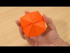 【裏技】一瞬で変形する折り紙 - YouTube Cube, Coasters, Youtube, Coaster
