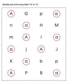 Preschool Worksheets, Learn ABC Worksheets
