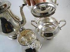 Vintage Sterling Silver Alvin Tea Service Set Teapot Creamer & Sugar 5+ lbs. Old