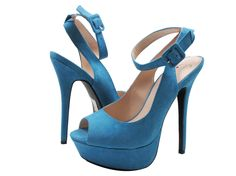 These Poem platforms will have you feelin' blue... But in a totally awesome way! #shoehaul #shoehaulonline #platforms #instaheels #blue #blueheels #peeptoe