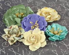 School Memories- Paper Flowers - Mulberry Paper Flowers - Flowers - Shop Products - Store