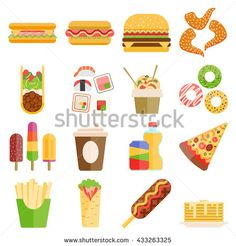 Set of colorful cartoon fast food icons. Fast food hamburger dinner and restaurant, tasty fast food unhealthy meal and unhealthy fast food classic nutrition. Chicken Images, Food Icons, Breaded Chicken, Hamburger, Royalty Free Stock Photos, Tasty, Nutrition, Meals, Cartoon