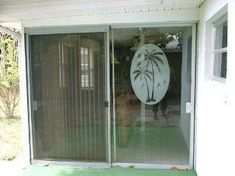 Everyone has seen these frosted window decals on a front door or sliding door. We've literally sold thousands and thousands of these palm tree decals. The palm tree Decal clings to any smooth glass or plastic surface. You'll not only have a beautiful alternative to real etched glass windows, you might just save a friend or family member the pain and embarrassment of walking into the glass. No messy residue from harsh adhesives! - Easily removable and repositionable. - Clings to any smooth glass  Tropical Window Film, Sliding Glass Door, Sliding Doors, Tree Decals, Window Decals, Etched Glass Windows, Window Privacy, Window Films, Static Cling