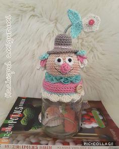 Crochet Jar Covers, Pots, Crochet Baby, Children, Anna, Kitchen, Fiestas, Carnival, Crochet Dolls