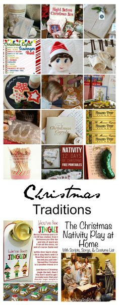 I believe Christmas Traditions are fun ways to bring your family together, make memories, and truly get you into the holiday spirit! Christmas Nativity, Christmas Crafts, Christmas Decorations, Christmas Ideas, Christmas Things, Holiday Decorating, Decorating Ideas, Free Christmas Printables, Christmas Activities