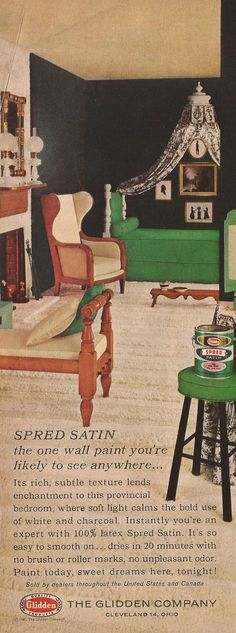 Glidden paint ad from Better Homes and Gardens, February 1962