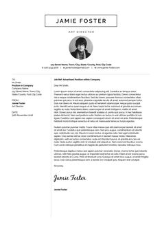 Introducing 'Jamie', a beautiful vertical design with a small photo. Including a single page Resume/CV and Cover Letter.