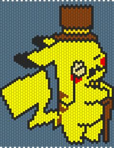 Pikachu Pokemon bead pattern