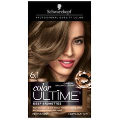 Schwarzkopf Color Ultime Permanent Haarfarbe Creme Rauchbraun - All For Hair Color Trending Schwarzkopf Hair Dye, Schwarzkopf Hair Color Chart, Hair Color Cream, Hair Color Dark, Brown Hair Colors, Hair Colour, Colored Highlights, Hair Highlights, Chunky Highlights