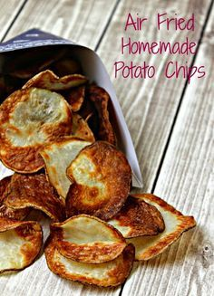 Air Fried Homemade Potato Chips recipe made in the Avalon Bay Air Fryer
