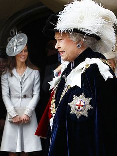 They're getting closer! The newly appointed Duchess of Cambridge stepped out at the June 13, 2011, Order of the Garter ceremony, where she looked on from the wings as the Queen made William a Knight of the Garter.