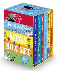 World of David Walliams 6 Books Collection Mega Box Set Demon Dentist Brand New 9780007589036 Granny Boy, David Walliams Books, Strange Things Are Happening, Reasons To Be Happy, Book Stationery, Book People, Book Collection, Childrens Books, Decorative Boxes