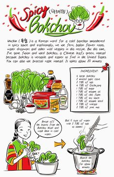Juice: New Banchan recipe: Spicy Bokchoy!