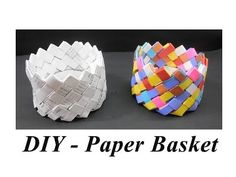DIY - How to make Paper Basket - YouTube