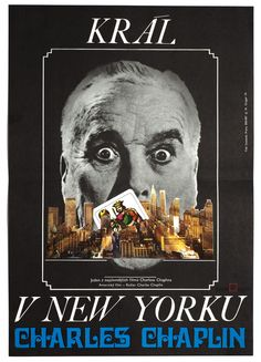 Milan Grygar's poster design for 1957 movie A King in New York directed by legendary Charlie Chaplin. Price: £67.00 poster art: Milan Grygar, 1974   #MoviePoster #MilanGrygar #70sMoviePoster #CharlieChaplin #CollagePosters #VintagePoster #jozefsquare