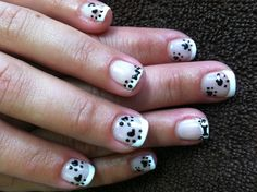 Dog nail art