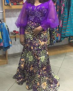 You can really appreciate the designs when the cloths are worn African Dresses For Kids, African Maxi Dresses, African Inspired Fashion, Latest African Fashion Dresses, African Print Fashion, African Attire, African Lace Styles, Ankara Styles, Ankara Designs