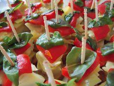Antipesto skewers - great and easy appetizer!