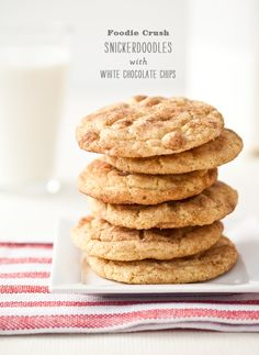Blue Ribbon Snickerdoodles with White Chocolate Chips.