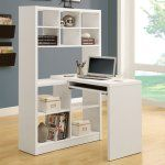 Monarch Hollow-Core Left or Right Facing Corner Desk with Hutch - White - Create an open-style office cubby with the Monarch Hollow-Core Left or Right Facing Corner Desk with Hutch - White . This modern piece has clean lines...