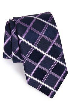 Men's Michael Kors Check Silk Tie