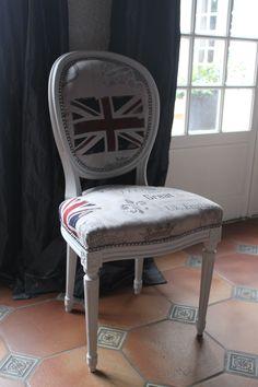 Chaise Louis XVI British flag