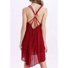 Chic Criss-Cross Asymmetrical Loose-Fitting Backless Women's Dress