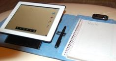 SHUT UP AND TAKE MY MONEY! Targus' iNotebook remotely pushes your hand-written notes to the iPad