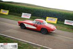 Corvettes of every vintage are commonplace at Open Road Racing events, like this one in the Nebraska Sandhills