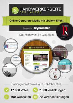 Finalisten #prrawards 2013: MyHammer - Kategorie Corporate Media