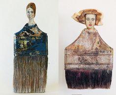 Segunda vida para las brochas viejas como damas de cuadros famosos – OBJECTBIS – DISEÑO ECOLÓGICO CREATIVO
