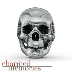 Charmed Memories Skull Charm Sterling Silver