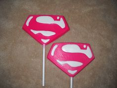 1 chocolate large logo super hero superman supergirl | sapphirechocolates - Edibles on ArtFire chocolate lollipops. castlerockchocolates@yahoo.com 307/899-7100 text any hour www.sapphirechocolates.artfire.com and http://www.stores.ebay.com/Castle-Rock-Chocolatier. made to ship 3 weeks after payment therefore please provide the following for a price quote especially if your event falls under the 3 week estimated arrival dates * event date * character * quantity * state * zip code * email…