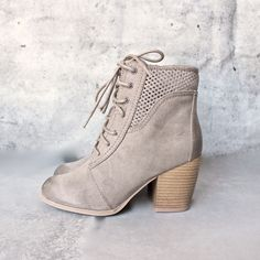 point the way perforated ankle boots - shophearts - 1
