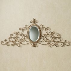 Mariella Mirrored Wrought Iron Wall Grille