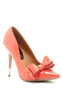 Coral Bow Pumps / rock diva