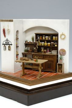 """For detailed pics, please see my """"Dollhouse Kitchen Pantry Scenes / Items"""" board) http://www.hiroyuki-and-kyoko.com"""