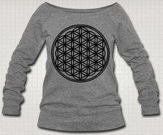 Flower of Life Slouch Pullover Sweater Sacred by ESOTERIClothing, $46.99