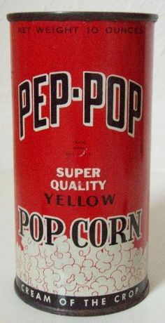 icollect247.com Online Vintage Antiques and Collectables - NOS, FULL PEP-POP ADVERTISING POP CORN TIN NEAR MINT
