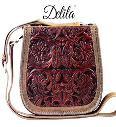 Delila by Montana West 100% Genuine Leather Messenger Bags - Coffee  #MontanaWest #MessengerCrossBody