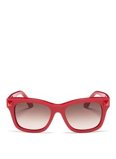 VALENTINO - Rockstud acetate sunglasses | Red Eyewear | Plastic HK$2,520