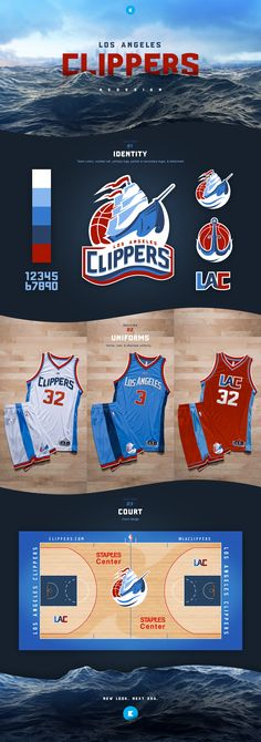aa277d0dc8a3 Los Angeles Clippers on Behance Basketball Teams
