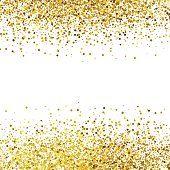 Shiny golden glitter on white background vector Confetti Background, Gold Glitter Background, Glitter Frame, Golden Background, Star Background, Glitter Art, Seamless Background, Paper Background, Background Patterns