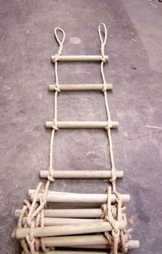 how to make a rope ladder - Google Search                                                                                                                                                      More