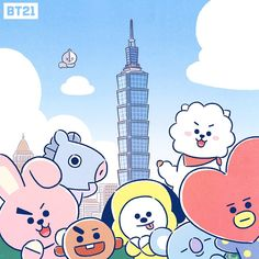 BROWN PIC is where you can find all the character GIFs, pics and free wallpapers of LINE friends. Bts Chibi, Billboard Music Awards, Bts Cute, Bt 21, Bts Drawings, Fandoms, Line Friends, Entertainment, Bts Fans